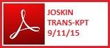 JOSKIN TRANS-KPT 9-11-15